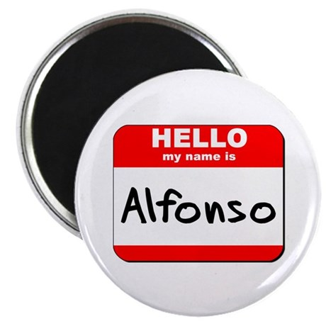 """Hello my name is Alfonso 2.25"""" Magnet (10 pack)"""