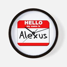 Hello my name is Alexus Wall Clock
