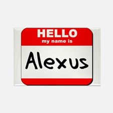 Hello my name is Alexus Rectangle Magnet