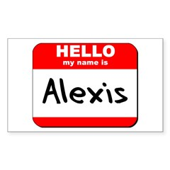 Hello my name is Alexis Rectangle Decal