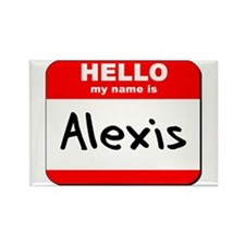 Hello my name is Alexis Rectangle Magnet