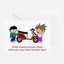 Scooter Hair Greeting Card
