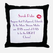 Sarah Palin - MSM Hollywood.. Throw Pillow