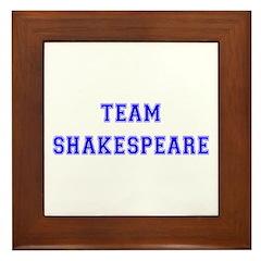 Team Shakespeare Framed Tile