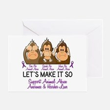 See Speak Hear No Animal Abuse 2 Greeting Card