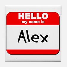Hello my name is Alex Tile Coaster