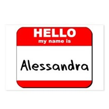 Hello my name is Alessandra Postcards (Package of