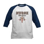 Dialysis Nurse Caduceus Kids Baseball Jersey