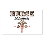 Dialysis Nurse Caduceus Rectangle Sticker 10 pk)