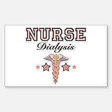 Dialysis Nurse Caduceus Rectangle Sticker 10 pk)