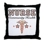 Community Health Nurse Throw Pillow