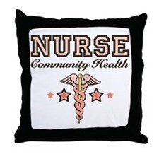 Community Health Nurse Throw Pillow