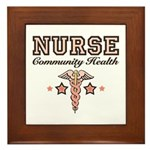 Community Health Nurse Framed Tile