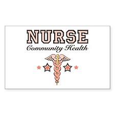 Community Health Nurse Rectangle Decal