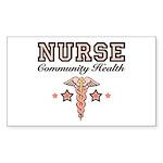 Community Health Nurse Rectangle Sticker 10 pk)
