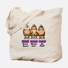 See Speak Hear No Animal Abuse 3 Tote Bag
