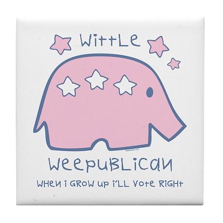 Wittle Weepublican Tile Coaster