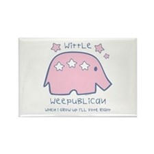 Wittle Weepublican Rectangle Magnet