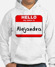 Hello my name is Alejandra Jumper Hoody