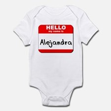 Hello my name is Alejandra Infant Bodysuit