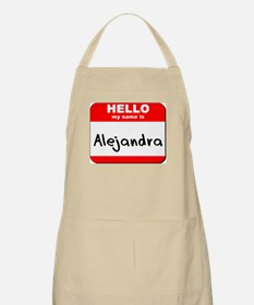 Hello my name is Alejandra BBQ Apron