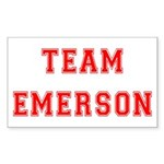 Team Emerson Rectangle Sticker