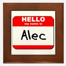 Hello my name is Alec Framed Tile