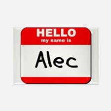 Hello my name is Alec Rectangle Magnet