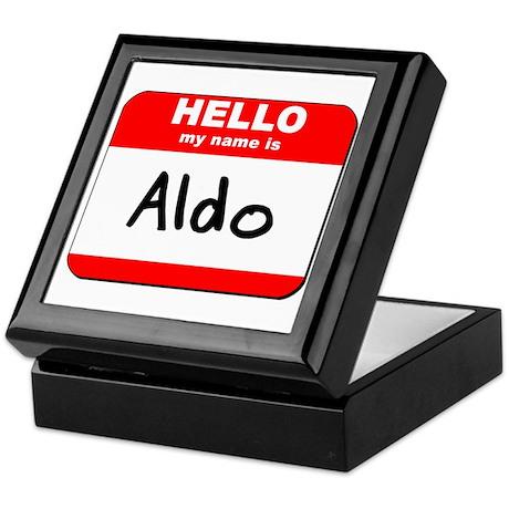 Hello my name is Aldo Keepsake Box