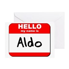 Hello my name is Aldo Greeting Card