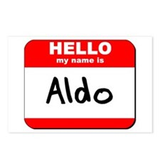 Hello my name is Aldo Postcards (Package of 8)