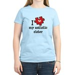 I Love My Autistic Sister Women's Light T-Shirt