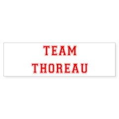 Team Thoreau Bumper Bumper Sticker