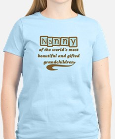 Nanny of Gifted Grandchildren T-Shirt