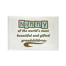 Nanny of Gifted Grandchildren Rectangle Magnet