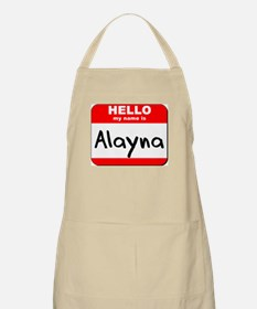 Hello my name is Alayna BBQ Apron