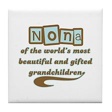 Nona of Gifted Grandchildren Tile Coaster