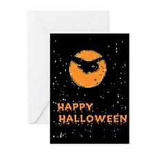 Scary Halloween Greeting Cards 6 w/envelopes