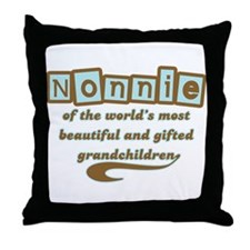 Nonnie of Gifted Grandchildren Throw Pillow