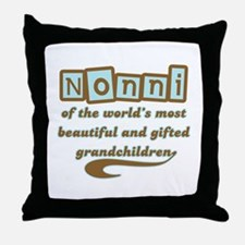 Nonni of Gifted Grandchildren Throw Pillow