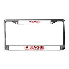 IV League Nurse License Plate Frame