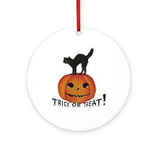 Halloween Black Cat Keepsake (Round)