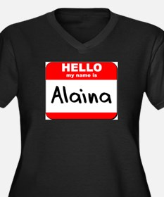 Hello my name is Alaina Women's Plus Size V-Neck D