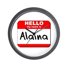 Hello my name is Alaina Wall Clock