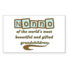 Nonno of Gifted Grandchildren Rectangle Decal