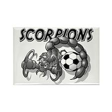 Black Scorpions Soccer Rectangle Magnet