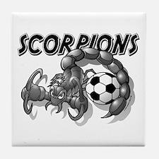 Black Scorpions Soccer Tile Coaster