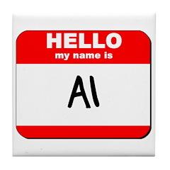 Hello my name is Al Tile Coaster