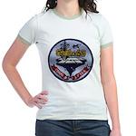 USS CORAL SEA Jr. Ringer T-Shirt