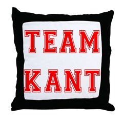 Team Kant Throw Pillow